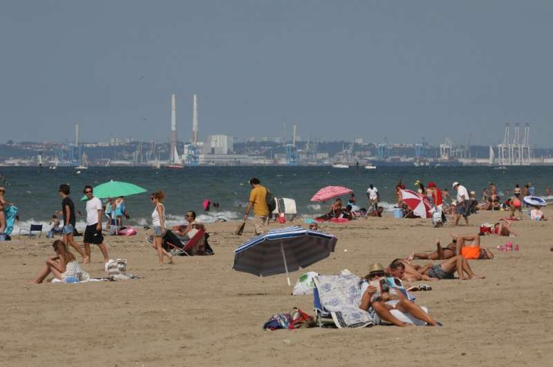 The beach of French resort Deauville, where the French Fab Tour is hoping to get young people interested in factory work
