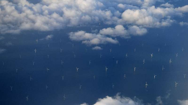 The Burbo Bank Offshore Wind Farm in Liverpool Bay has helped the UK produce the majority of its electricty from renewable sourc