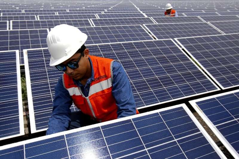 The cost of electricity produced by solar panels has fallen by more than 80 percent since 2010