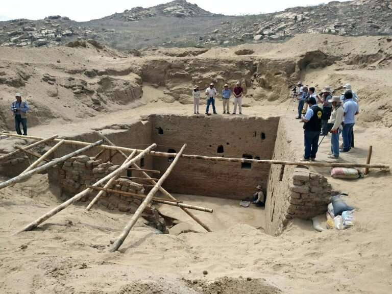 The discovery was made on the Mata Indio dig site in the northern Lambayeque region