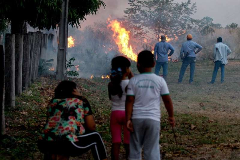 The fires were threatening three towns in Brazil's Pantanal