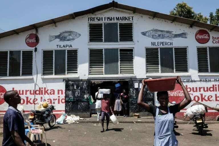 The municipal fish market in Kisumu, western Kenya.