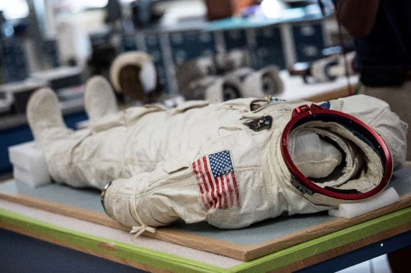 The space suit worn by Michael Collins, Apollo 11's third astronaut, is in near mint condition