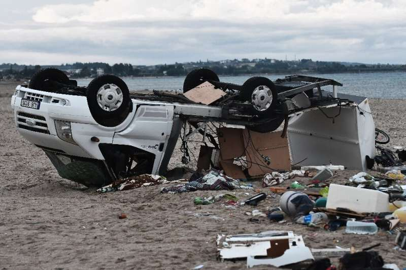 The storm toppled and ripped open a Czech family's caravan, killing an elderly couple in their seventies and injuring two others