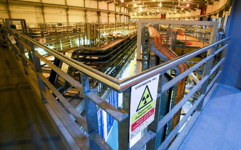 The synchrotron experimental area at the Diamond Light Source in Didcot, west of London, which will be used to help decipher Rom