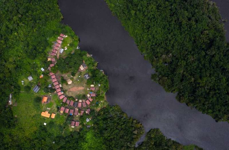 The village of Laranjal is located along the Iriri river in Arara indigenous land in the Amazon rainforest in northern Brazil—it