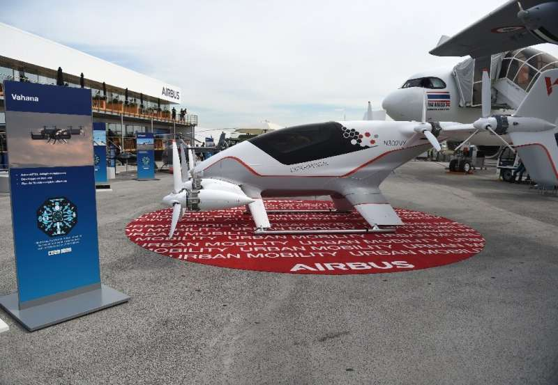 This Airbus all-electric, single-seater aircraft on show at the International Paris Air Show meets the emissions challenge, but