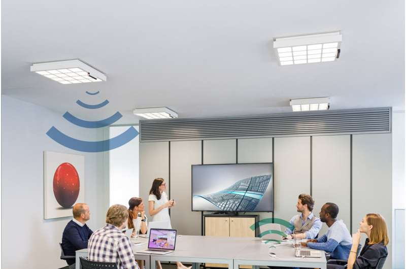 Trulifi leveraging light waves for send-receive of office data