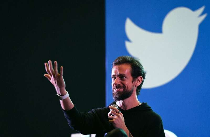 """Twitter has suspended tweeting via text after CEO Jack Dorsey, pictured in November 2018, fell victim to a """"SIM swap"""""""