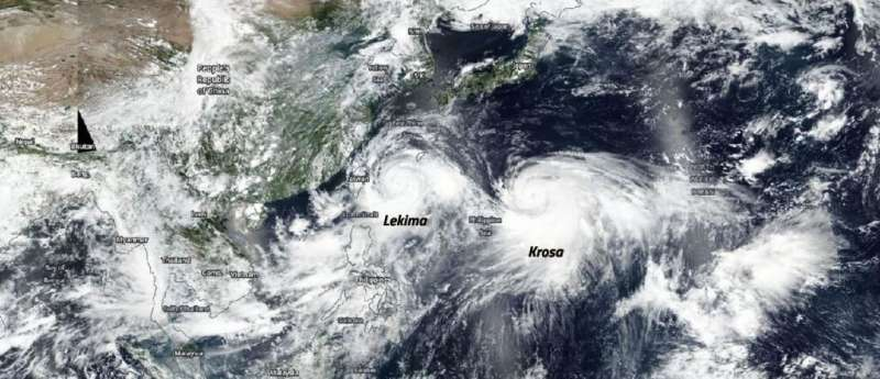Typhoon Krosa follows leader Supertyphoon Lekima