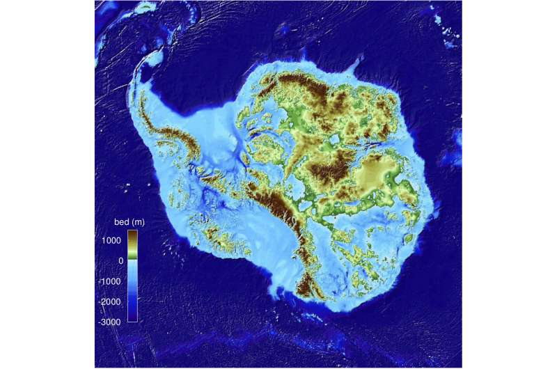 UCI-led team releases high-precision map of Antarctic ice sheet bed topography