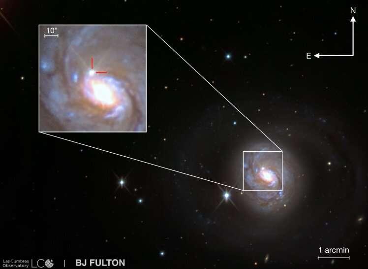 Unusual Type II supernova discovered in NGC 1068
