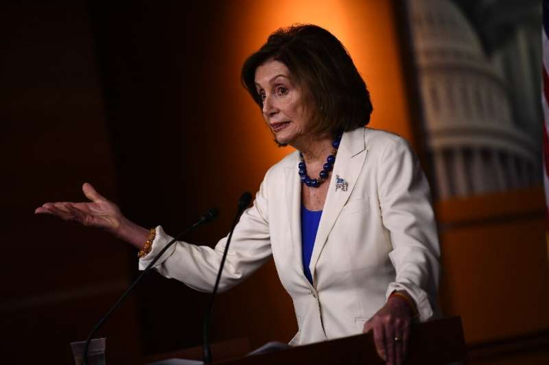 US Congressional leader Nancy Pelosi, pictured last month, told the conference that the world could still count on the US despit