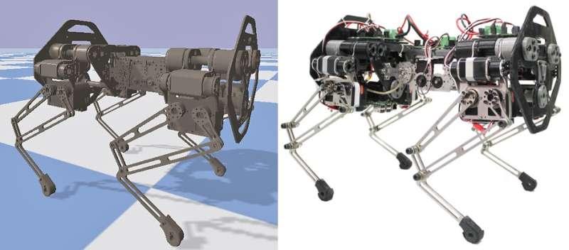 Using a simulation framework to study spine behaviors of quadruped robots