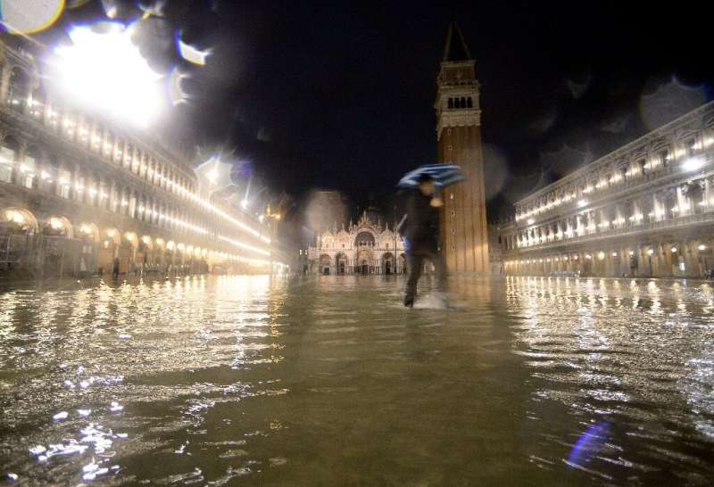 Venice's mayor ordered the iconic St Mark's Square closed as the latest sea surge struck