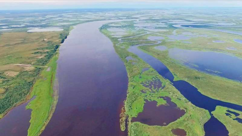 Western Siberian rivers and lakes emit greenhouse gases into the atmosphere