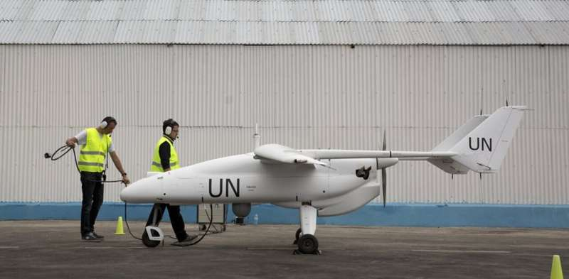 What can drones do to protect civilians in armed conflict?