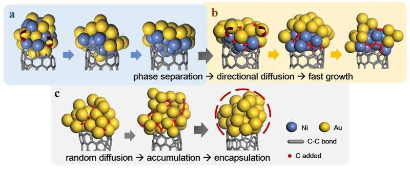 Why are alloy metal nanoparticles better than monometallic ones for CNT growth?