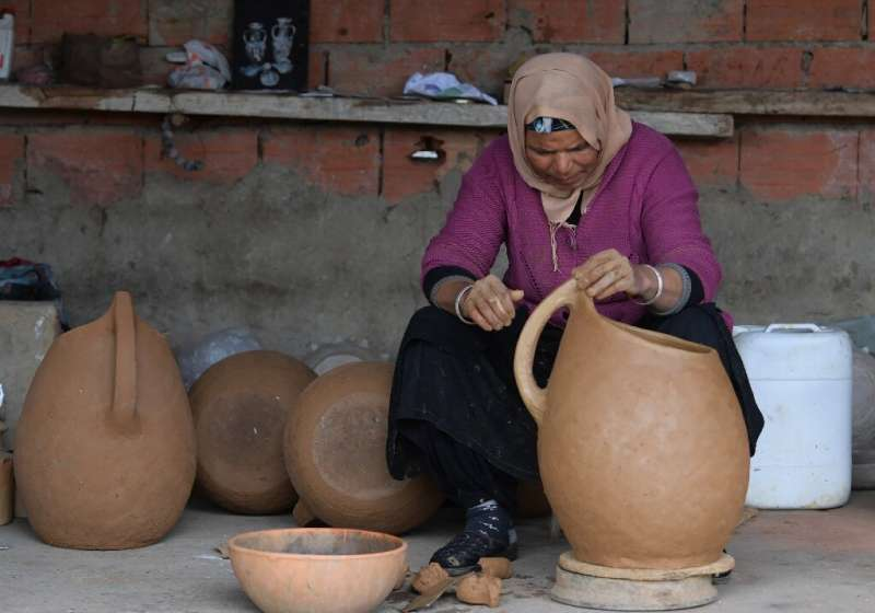 Women from Sejnane in northern Tunisia keep alive an ancient tradition of creating pottery with all-natural materials