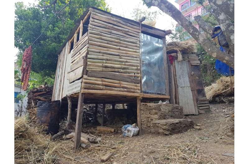 Women in Nepal still forced to sleep outside in 'menstruation huts'