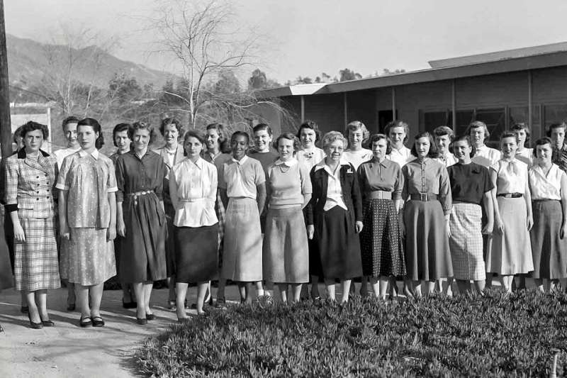 "Women working with the NASA Jet Propulsion Laboratory, known at the time as ""computers"", including Janez Lawson (front"