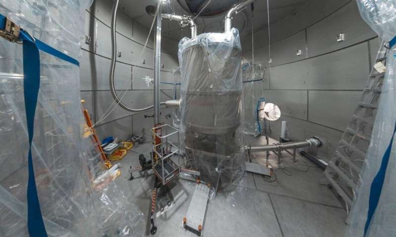 A major milestone for an underground dark matter search experiment
