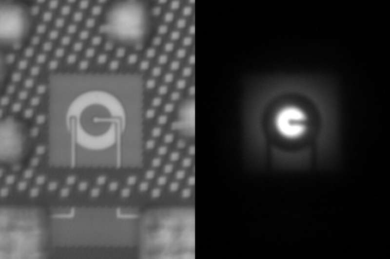 An LED that can be integrated directly into computer chips