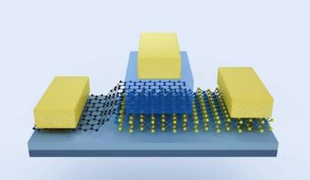Atom-thin transistor uses half the voltage of common semiconductors, boosts current density