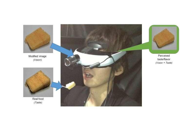 Augmented reality visor makes cake taste moister, more delicious