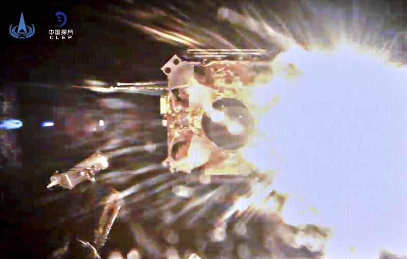 Chinese spacecraft carrying lunar rocks lifts off from moon