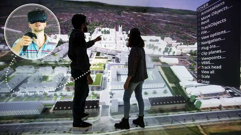 Collaborative virtual reality environments for the home office