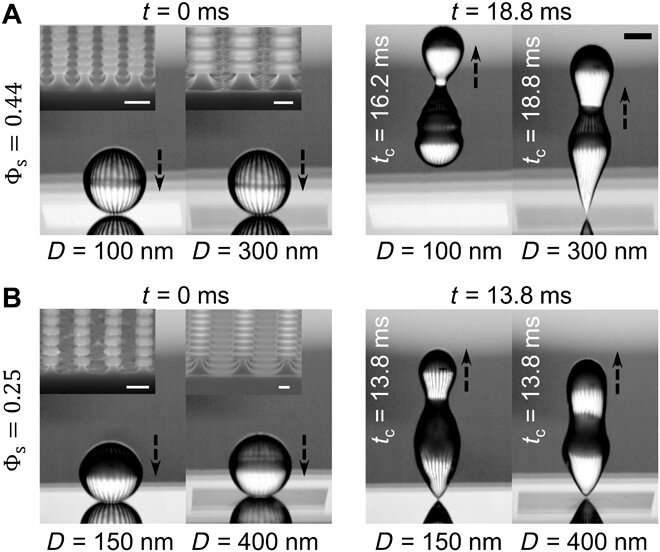 Compact nanoscale textures reduce contact time of bouncing droplets