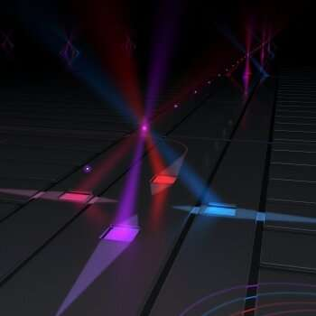 Control ions for quantum computing and sensing via on-chip fiber optics