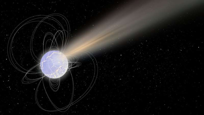 Dead star emits never-before seen mix of radiation