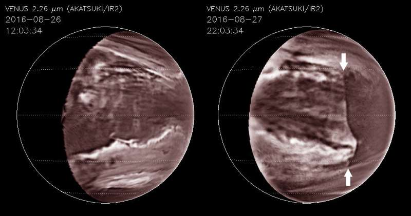 Decades-long deep giant cloud disruption discovered on Venus