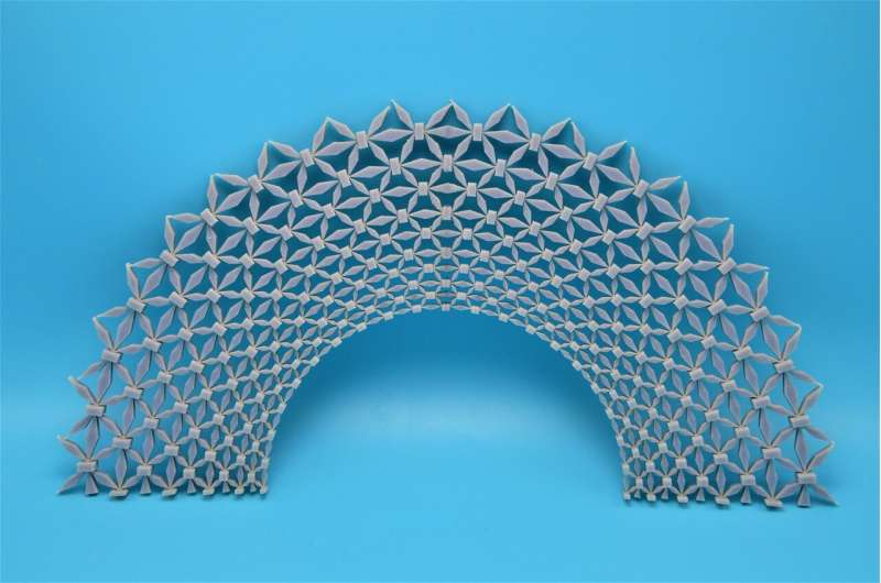 Designing a flexible material to protect buildings, military personnel