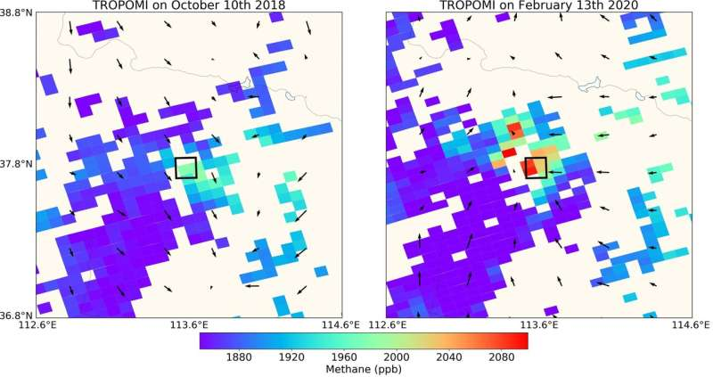 Detecting methane emissions during COVID-19