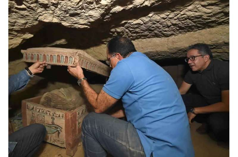 Egypt says another trove of ancient coffins found in Saqqara