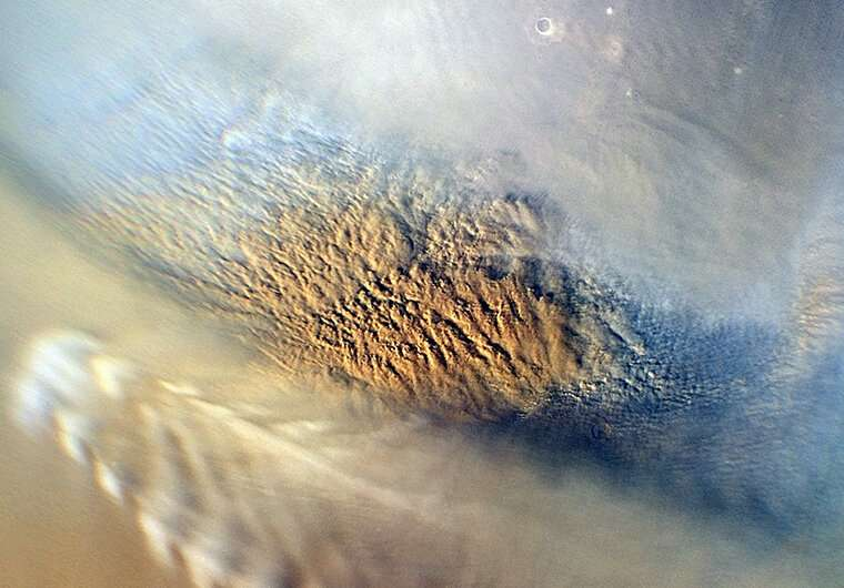 Electrically charged dust storms drive Martian chlorine cycle