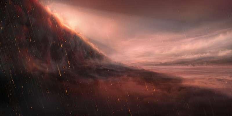 ESO telescope observes exoplanet where it rains iron