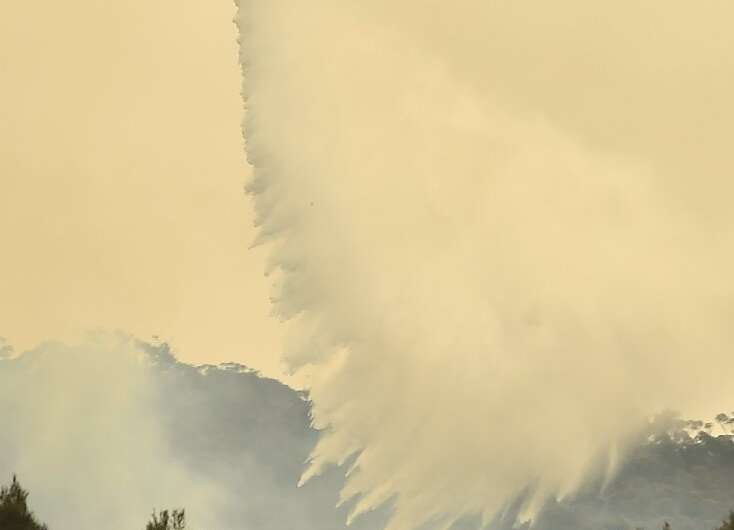 Firefighters have been tackling the blazes from the ground and from the air