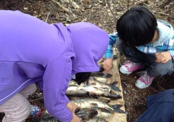 Fishing with Elders builds these children's Oji-Cree language, cultural knowledge and writing