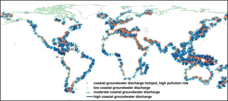 Fresh groundwater flow important for coastal ecosystems