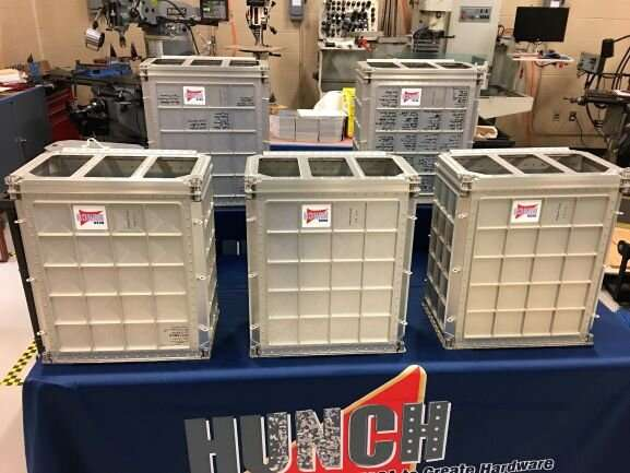 High school students build lockers for trip to the international space station