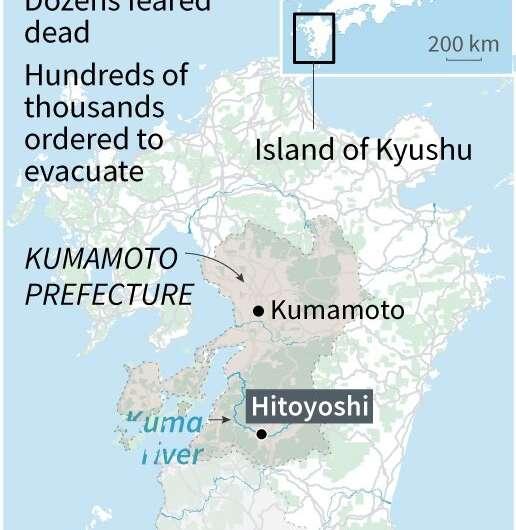 Japan often experiences severe weather during its rainy season