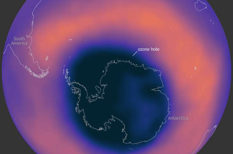 Large, deep Antarctic ozone hole to persist into NovemberOctober 30, 2020