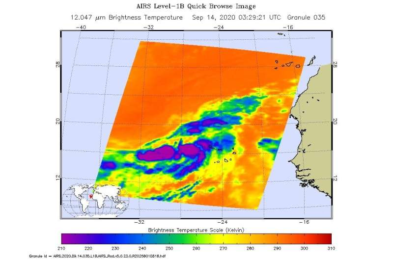 NASA catches development of eastern Atlantic's tropical storm Vicky