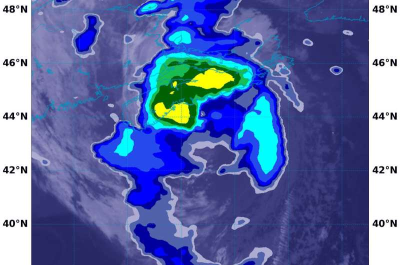 NASA sees post-tropical storm Teddy generating heavy rain over Eastern Canada