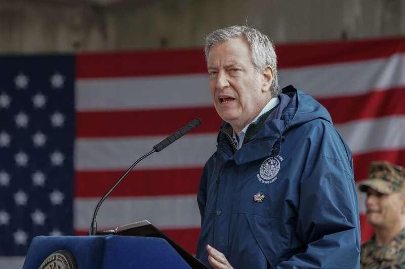 New York Mayor Bill de Blasio, pictured here in March 2020, says indoor dining has been postponed due to a surge in coronavirus