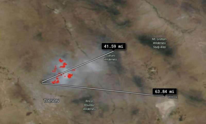 NOAA/NASA's Suomi NPP satellite captures 63 mile smoke trail from bush fire